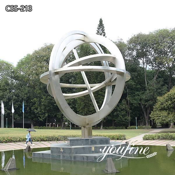 Globe Outdoor Modern Metal Sculpture for Garden for Sale