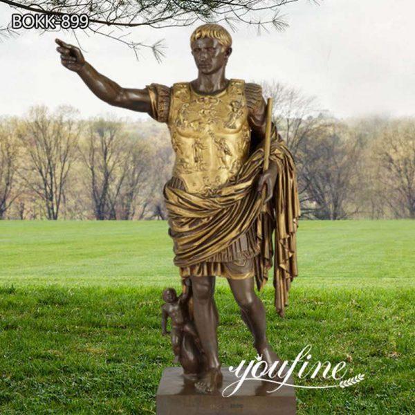 Large Augustus Caesar Bronze Sculpture by Barbedienne for Sale BOKK-899