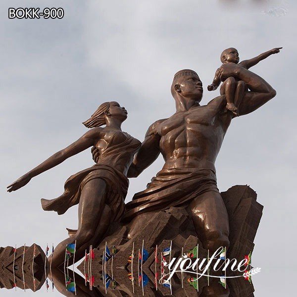 Large Bronze African Renaissance Monument Statue Project for Sale