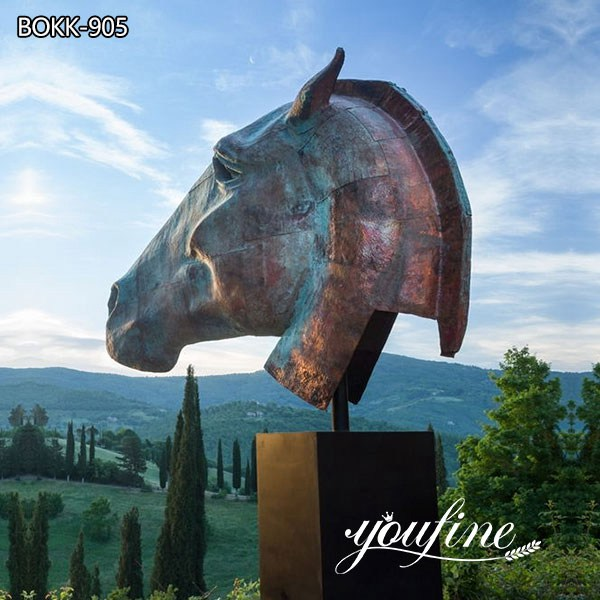 Large Bronze Horse Head Statue for Sale for Outdoor Garden BOKK-905