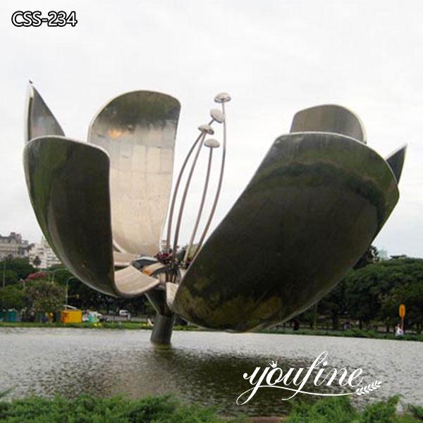 Large Garden Metal Flower Stainless Steel Sculpture Factory