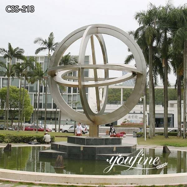 Large Globe Outdoor Modern Metal Sculpture for Garden