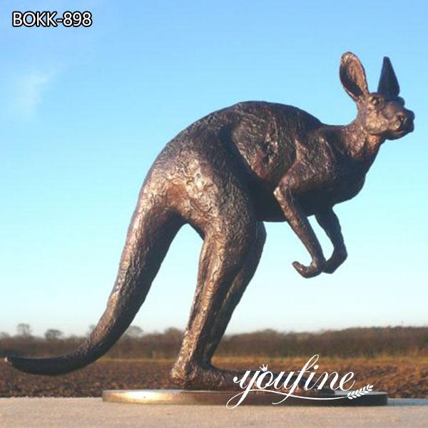 Large Outdoor Bronze kangaroo Garden Sculpture for Sale