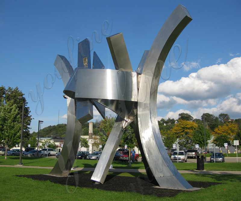 Large Outdoor Metal Sculpture Stainless Steel Sculpture Factory