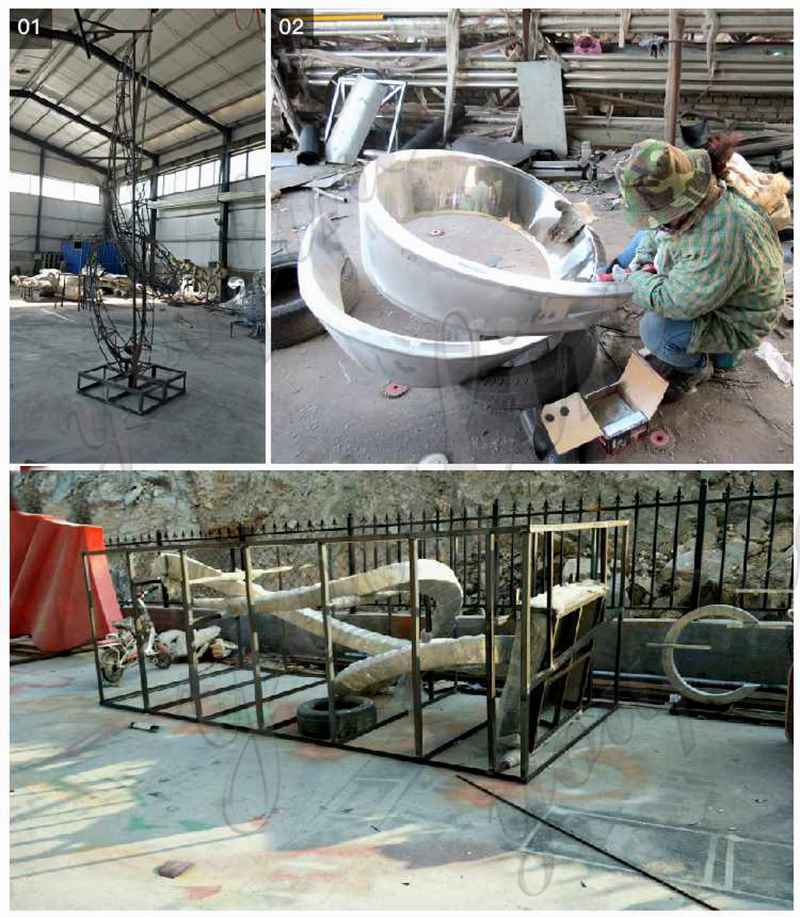 Large Stainless Steel Sculpture Factory