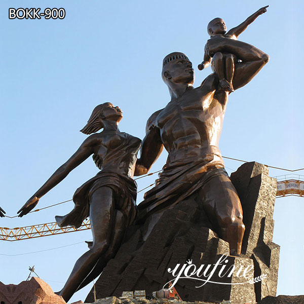 Large Bronze African Renaissance Monument Statue Project for Sale BOKK-900