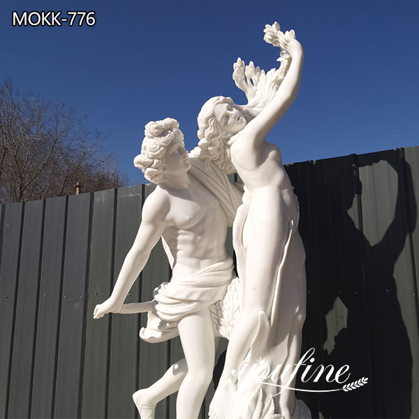 Life Size Apollo and Daphne Marble Garden Statue for Sale