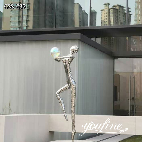 Life Size Female Stainless Steel Statue for Outdoor Garden for Sale