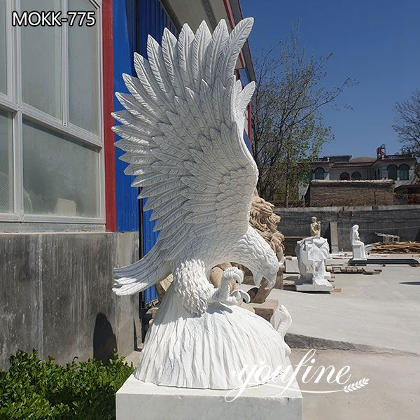 Life Size Marble Eagle Sculpture for Sale