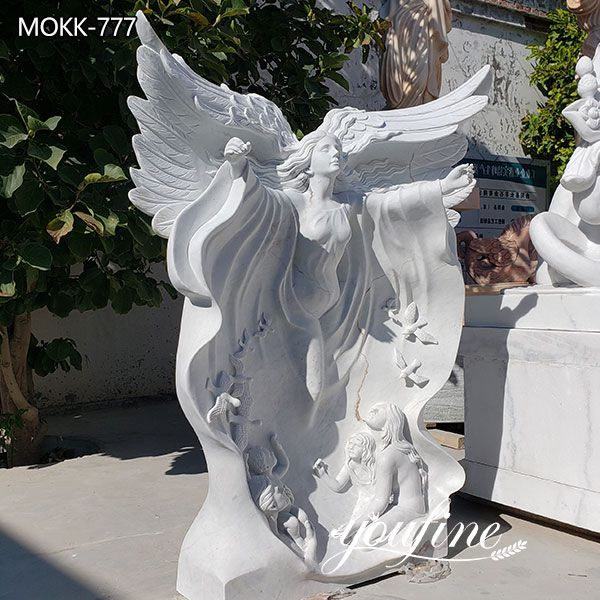 Life Size White Marble Angel Statues for Garden Decor Suppliers