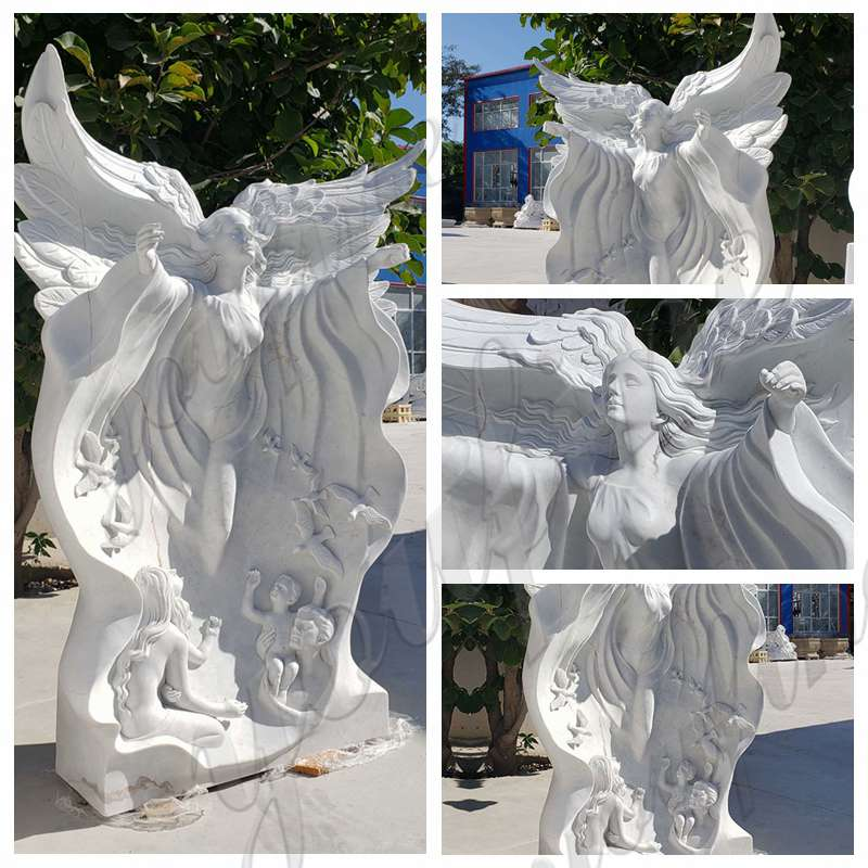 Marble Angel Statues for Garden Decor Suppliers