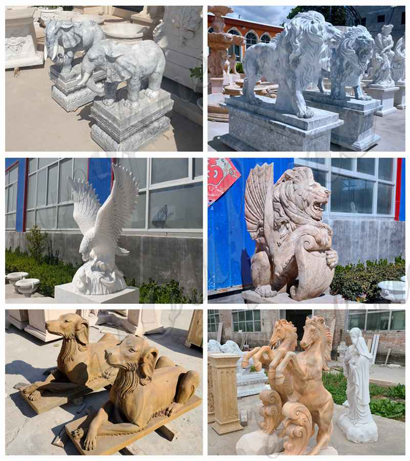 Marble animal statue for sale
