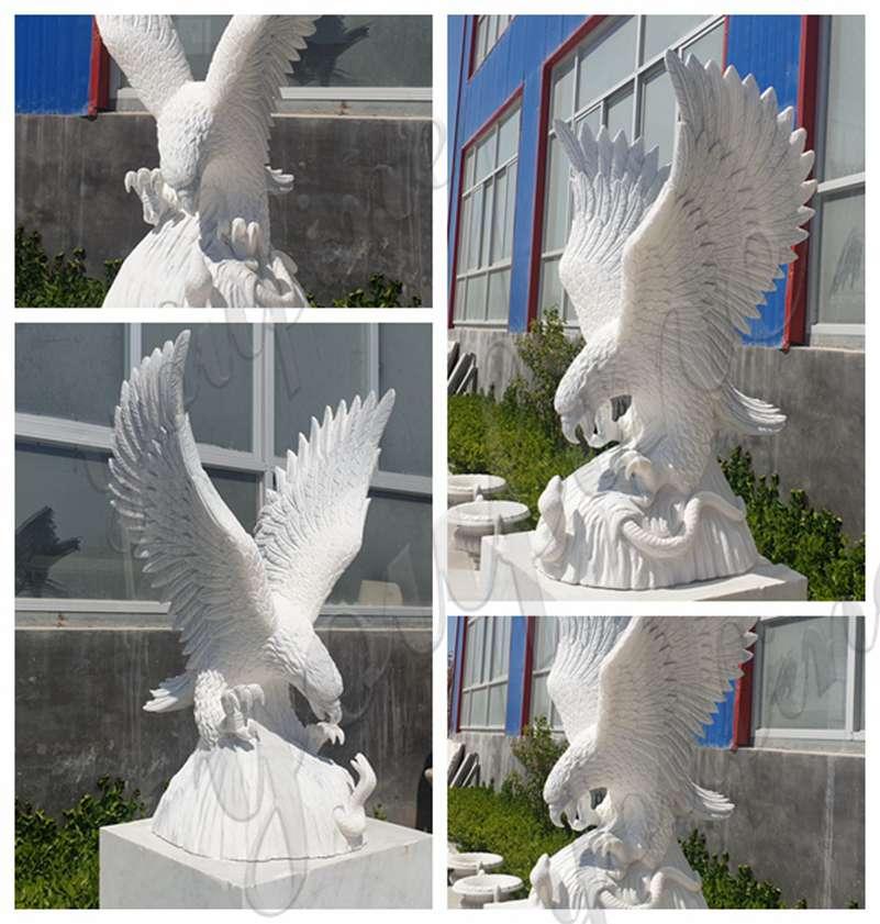 Marble eagle sculpture for sale