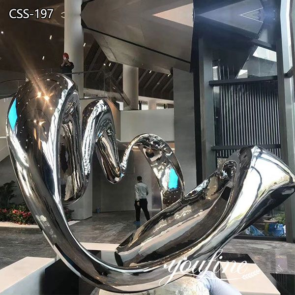 Mirror Stainless Steel Sculpture for Sale