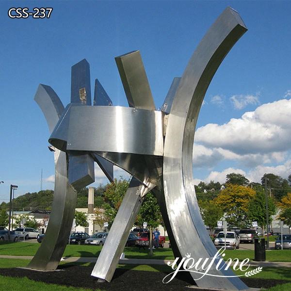 Modern Large Outdoor Metal Sculpture Stainless Steel Sculpture Factory CSS-237