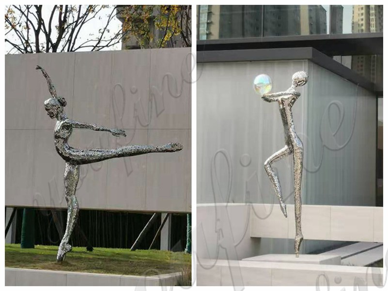 Modern Stainless Steel Figure Sculpture for Sale