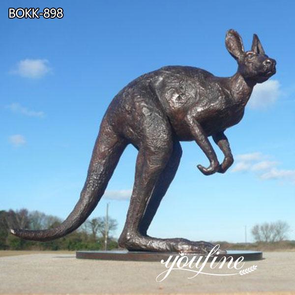 Outdoor Bronze kangaroo Garden Sculpture