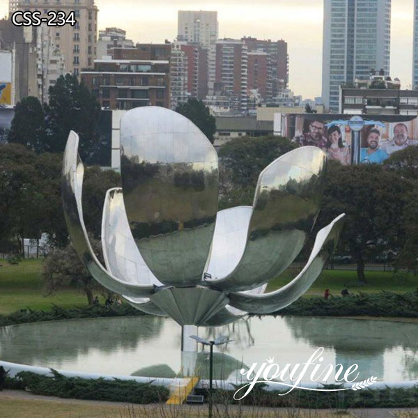Outdoor Large Garden Metal Flower Stainless Steel Sculpture Factory