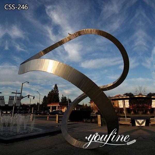 Outdoor Stainless Steel Loop Sculpture Garden Decor Factory Supply CSS-246