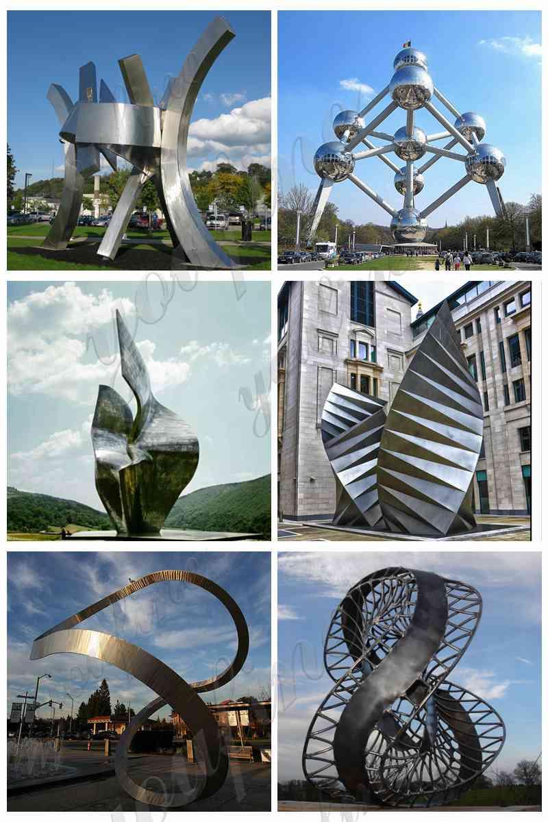 Outdoor Stainless Steel Loop Sculpture Garden DecorOutdoor Stainless Steel Loop Sculpture Garden Decor