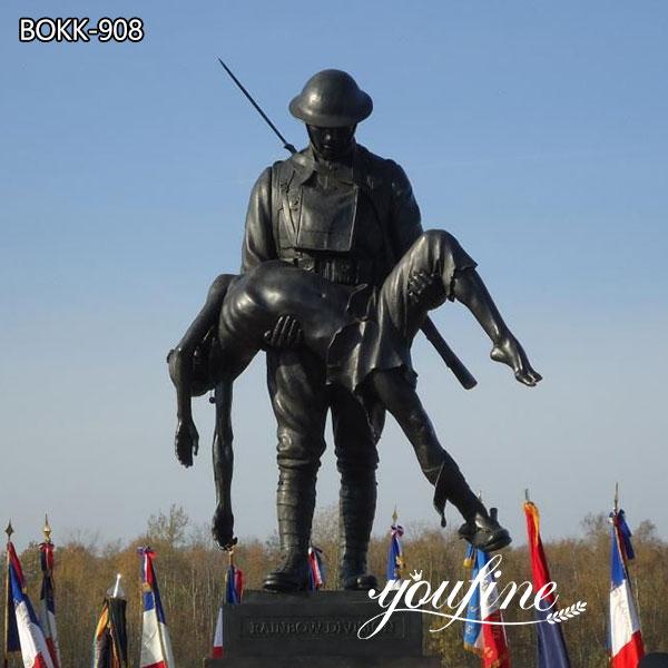 Rainbow Division Memorial Sculpture Bronze Soldier Statue for Sale