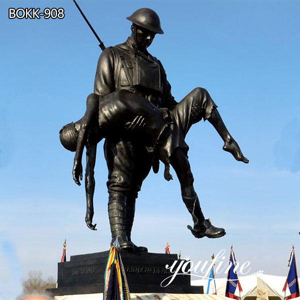 Rainbow Division Memorial Sculpture Bronze Soldier Statue for Sale BOKK-908