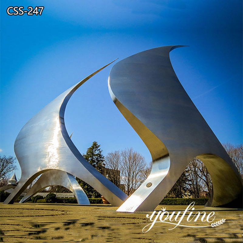 Outdoor Large Stainless Steel Sculpture for Sale for Garden Decor CSS-247