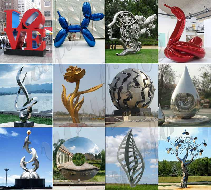 Stainless Steel Statue for Outdoor Garden for Sale