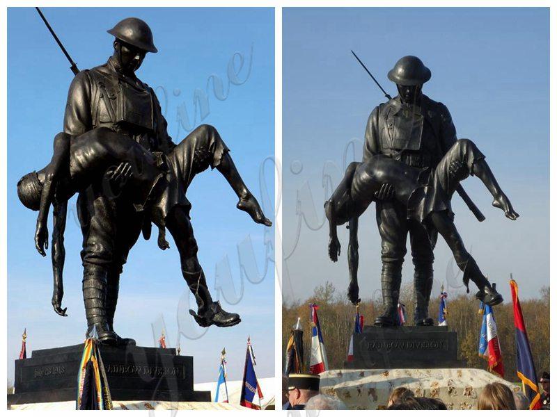bronze Rainbow Division Memorial Sculpture