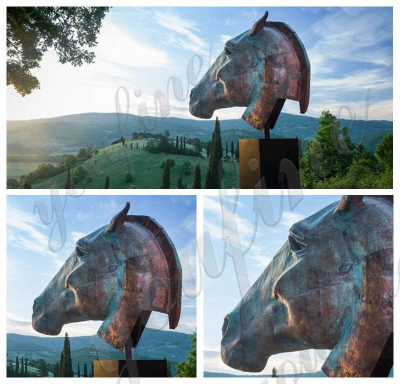 bronze horse head statues for sale