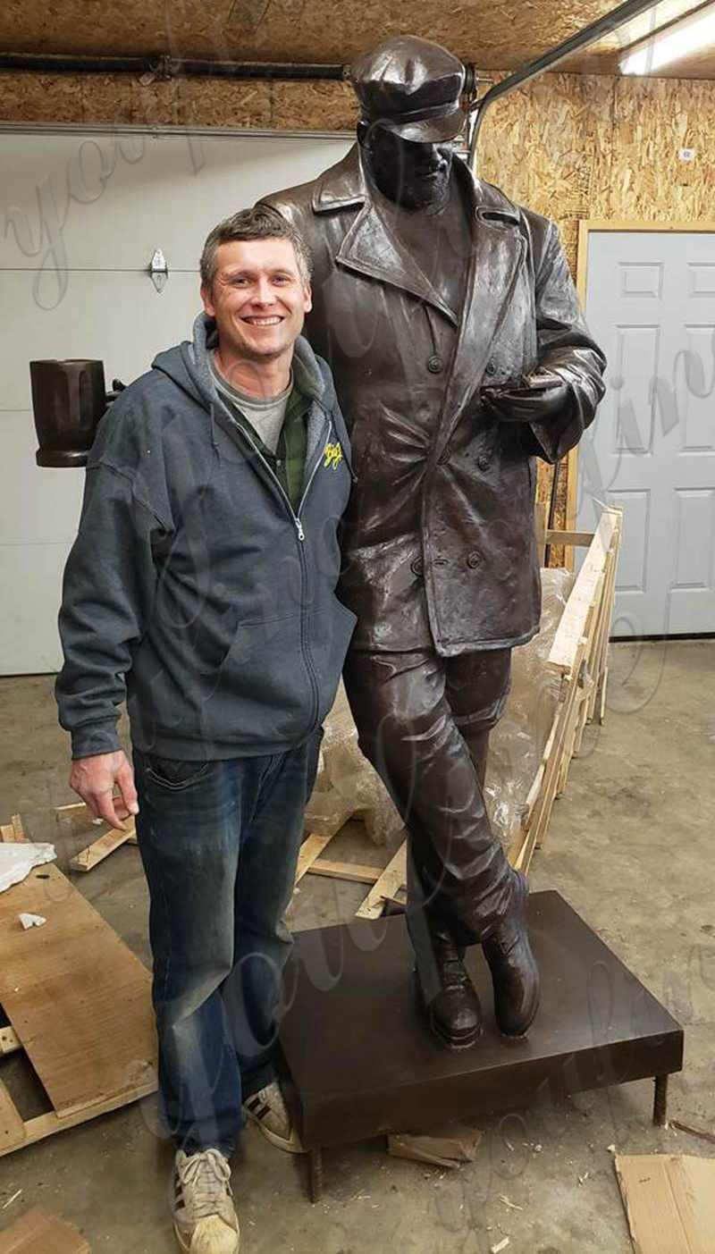 bronze man statue customer feedback
