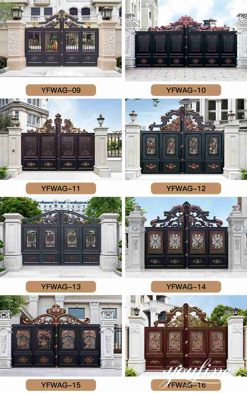 Aluminium Garden Gate for Home Decor for Sale ALGD-016