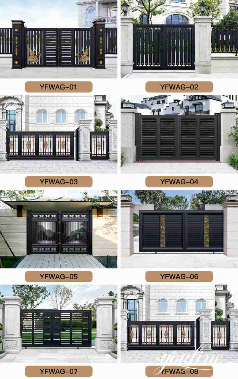 Aluminum Gate Fence for Home Factory Supply