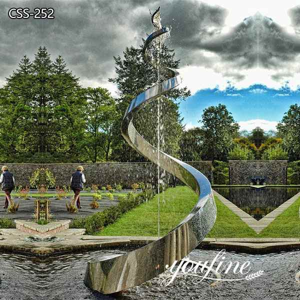 Artistic Outdoor Metal Sculpture Fountain Garden for Sale