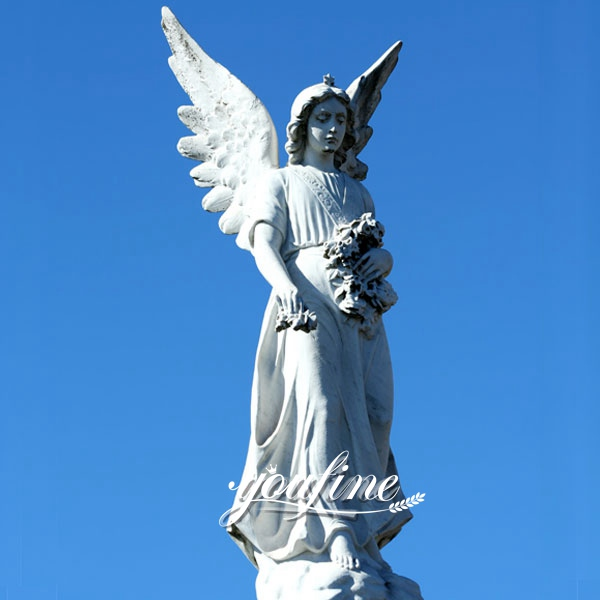 Life Size Avenger Angel Marble Statue for Square Ornaments BOKK-265
