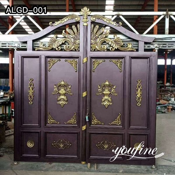 Beautiful Custom Aluminum Gate Design for Driveway Supplier ALGD-001