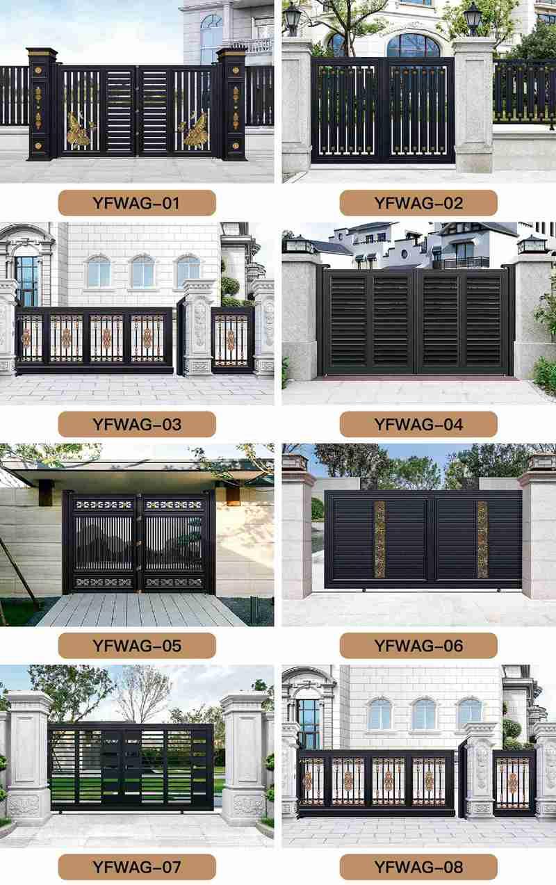 Beautiful Custom Aluminum Gate Design for Driveway Supplier ALGD-001 More Designs