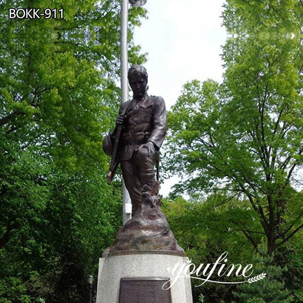 Life Size Bronze Soldier Statue for Sale for Memorial Park Decor BOKK-911