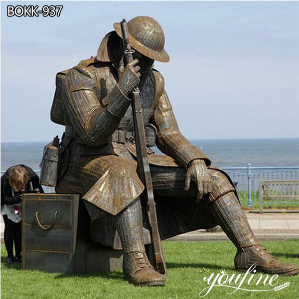 Large Bronze Soldier statue Outdoor Decor for Sale BOKK-397