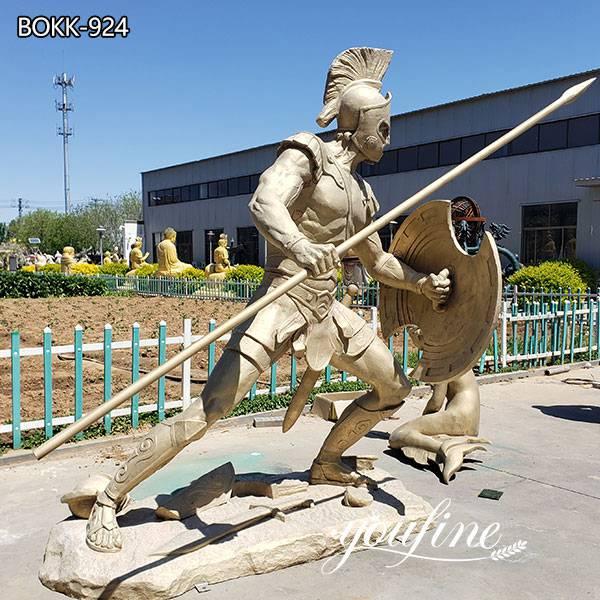 Bronze Spartan Soldier Statue Factory Supply