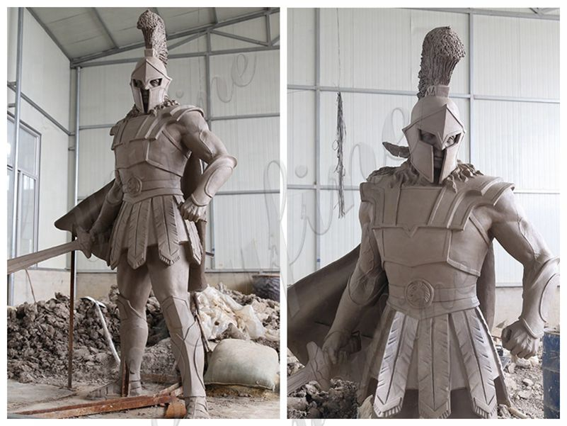 Bronze Spartan Warrior Statue Outdoor Military Statues for sale