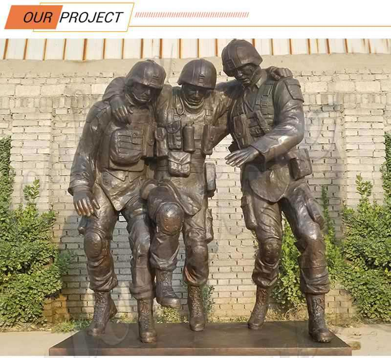 Bronze Statue Soldier and Child for Sale