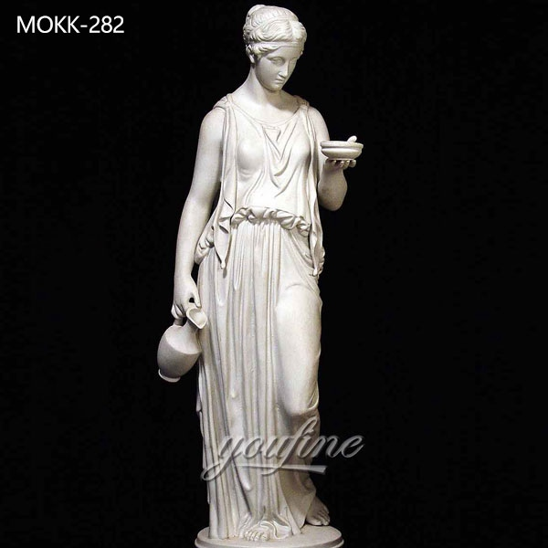 Classic Life Size Parian Greek Lady Marble Statue for Garden for Sale