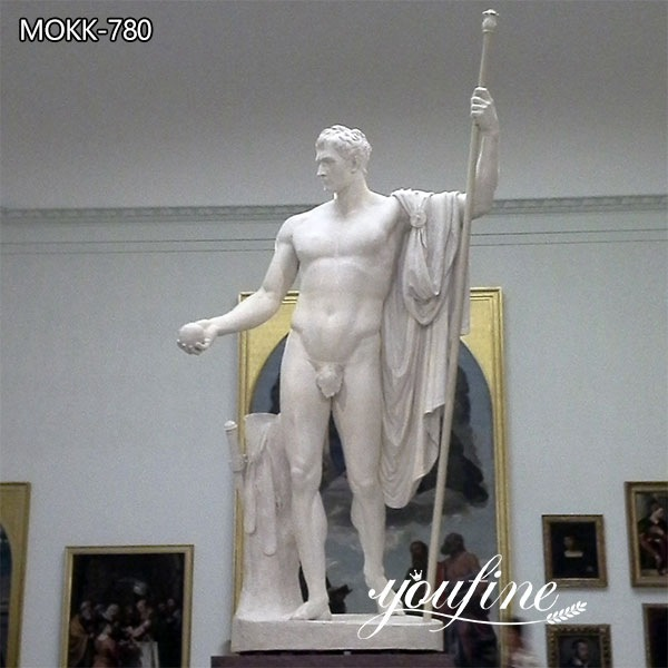 Classic Marble Napoleon as Mars the Peacemaker Statue for Sale
