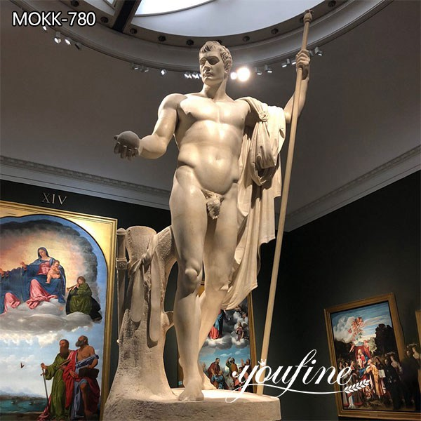 Classic Marble Napoleon as Mars the Peacemaker Statue