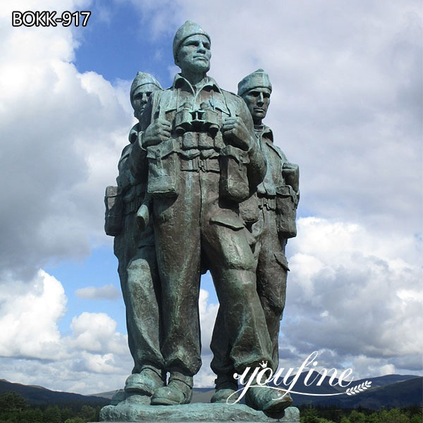 Large Commando Memorial Bronze Soldier Statue for Sale BOKK-917