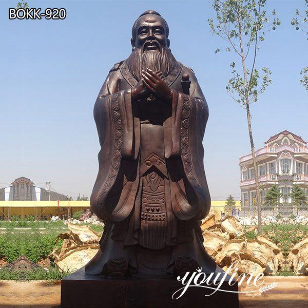 Outdoor Confucius Bronze Statue Custom Bronze Sculptures for Sale BOKK-920