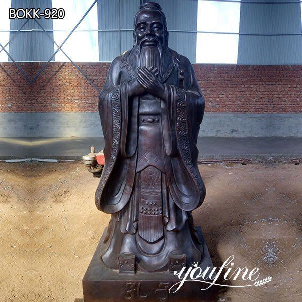Confucius Bronze Statue Custom Bronze Sculptures