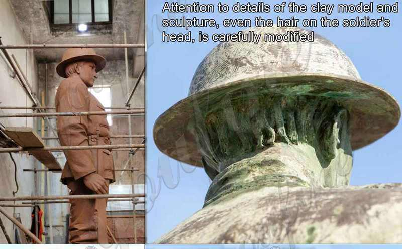 Custom 16ft Outdoor Large Bronze Soldier Statue for Client