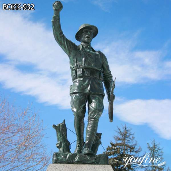 Custom Made Casting Bronze Soldier Statue Large Size for Sale BOKK-932